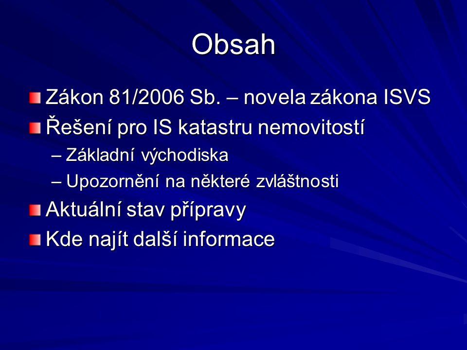 Obsah Zákon 81/2006 Sb.