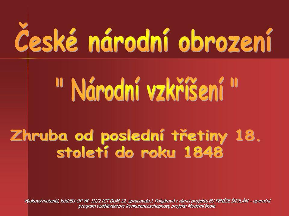 Hlavním úkolem jeho tvůrců bylo pozvednout český jazyk opět na úroveň jazyka vzdělanců a motivovat obyvatele českých zemí k národní uvědomělosti.