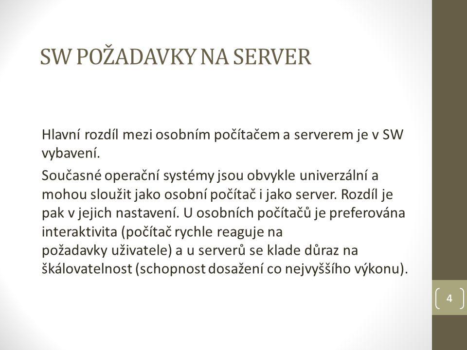 5 Server (1) Serverové služby