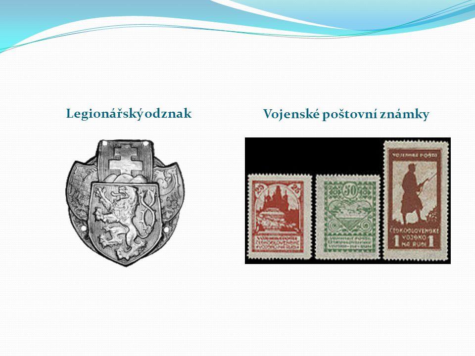 Legionářský odznak Vojenské poštovní známky