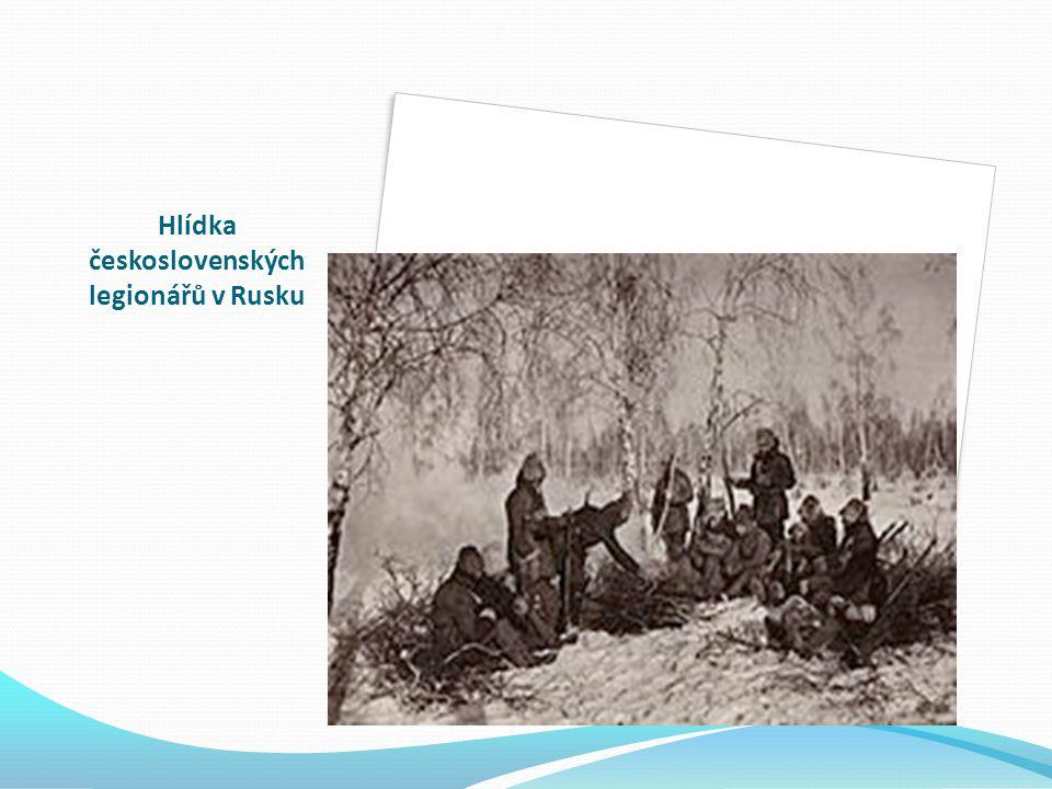 Hlídka československých legionářů v Rusku