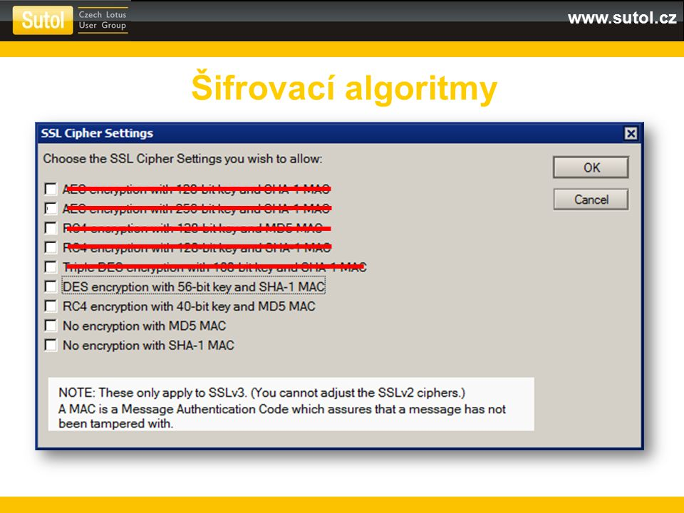 www.sutol.cz Šifrovací algoritmy