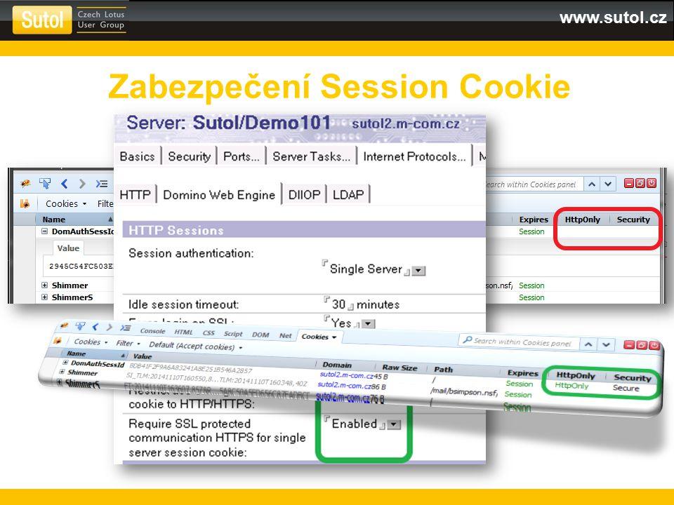 www.sutol.cz Zabezpečení Session Cookie
