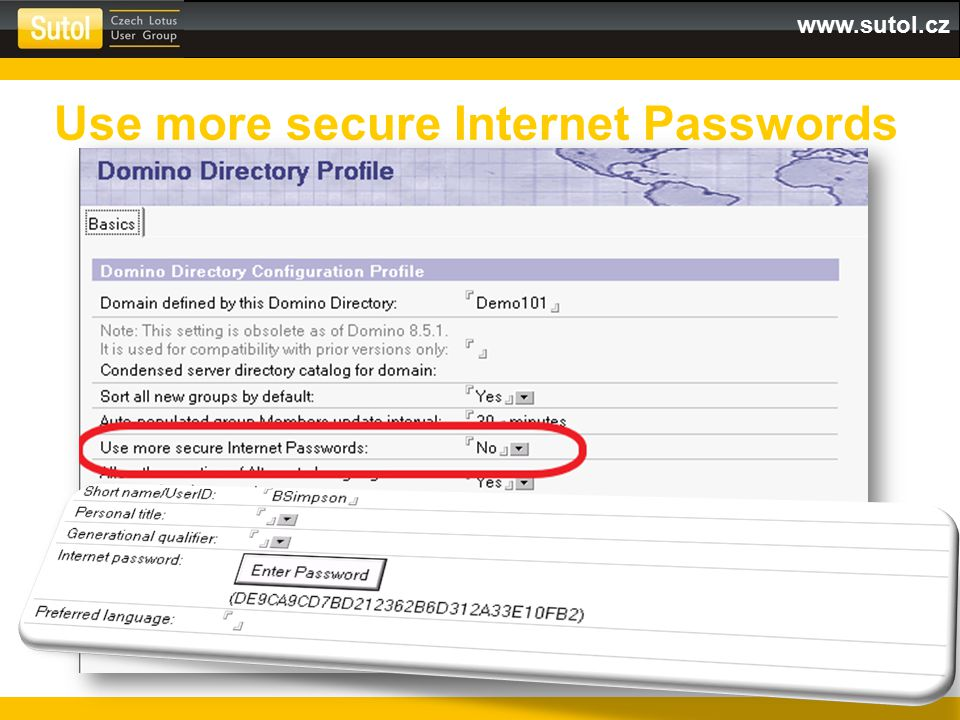 www.sutol.cz Use more secure Internet Passwords