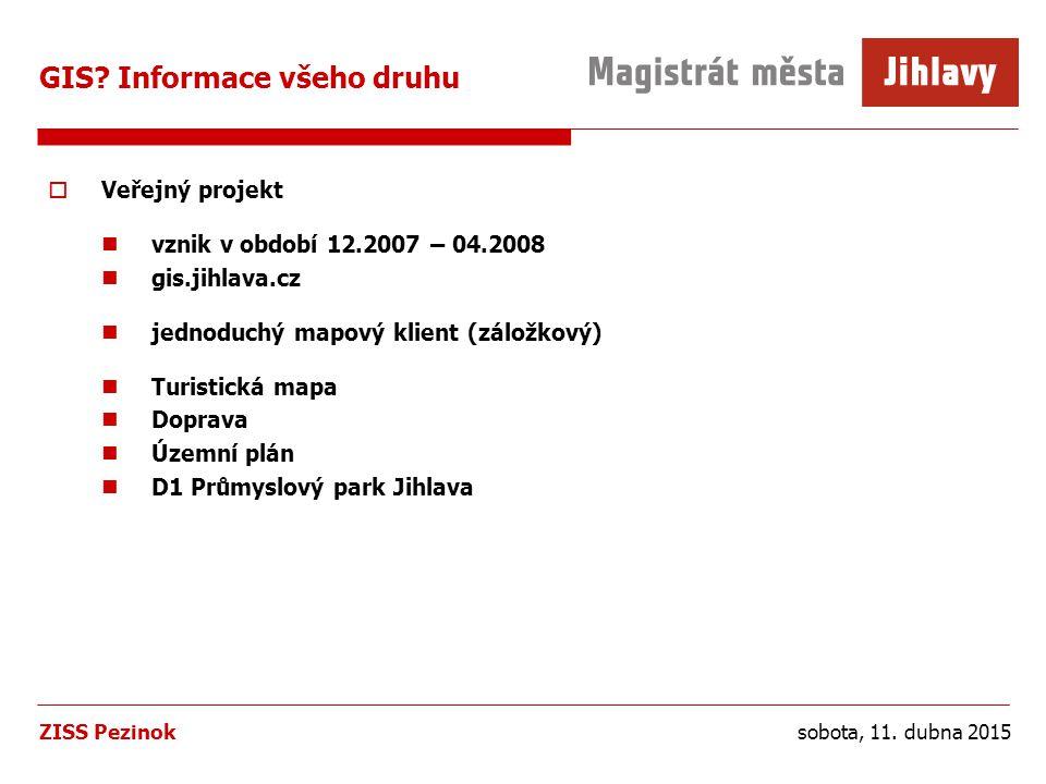 sobota, 11. dubna 2015ZISS Pezinok GIS.