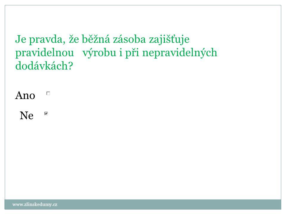 www.zlinskedumy.cz Je pravda, že běžná zásoba zajišťuje pravidelnou výrobu i při nepravidelných dodávkách.