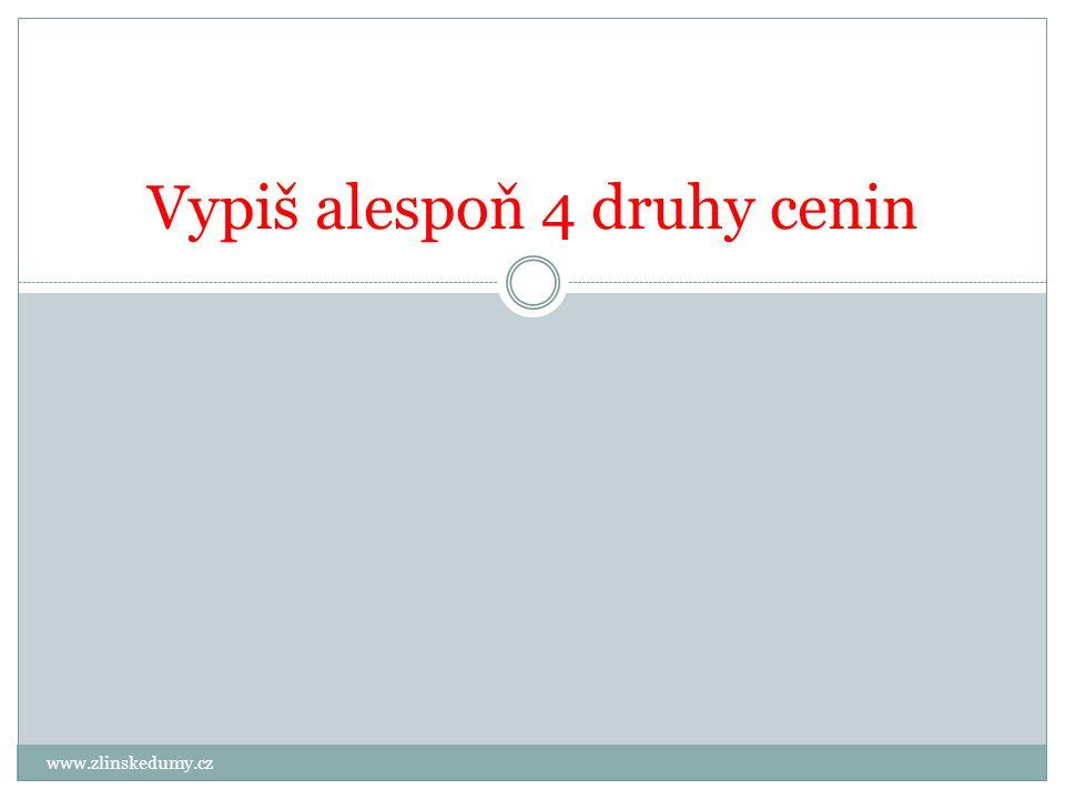 www.zlinskedumy.cz Vypiš alespoň 4 druhy cenin