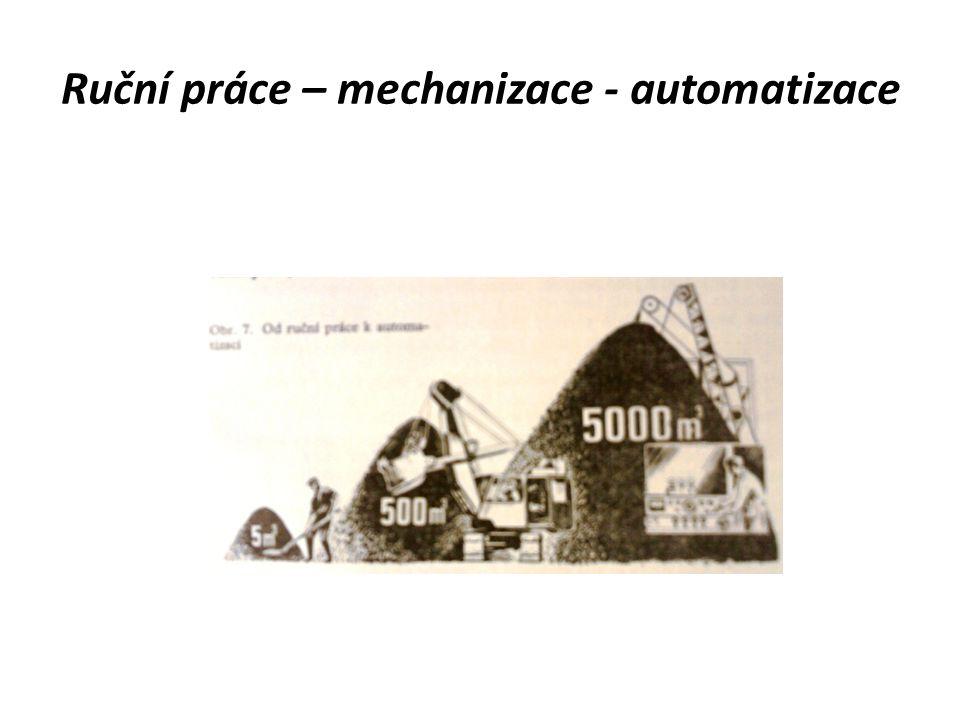 Vývojové stupně mechanizace a automatizace Třetí: – výrobní středisko složeno pouze z NC obráběcích strojů a NC obráběcích center – technologický proces zcela automatizováno – ostatní stejné jako u výrobního střediska druhého stupně