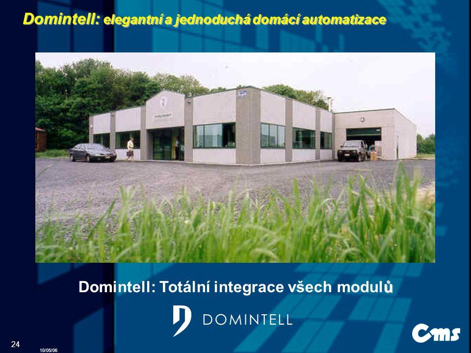 10/05/06 24 Domintell: elegantní a jednoduchá domácí automatizace Domintell: Totální integrace všech modulů