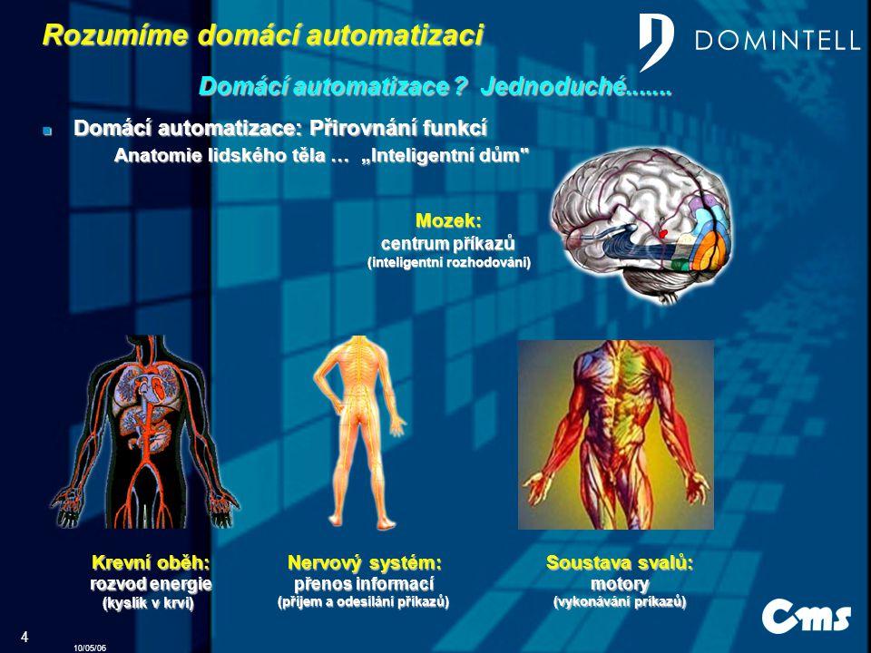 10/05/06 4 Rozumíme Rozumíme domácí automatizaci Domácí Domácí automatizace automatizace .