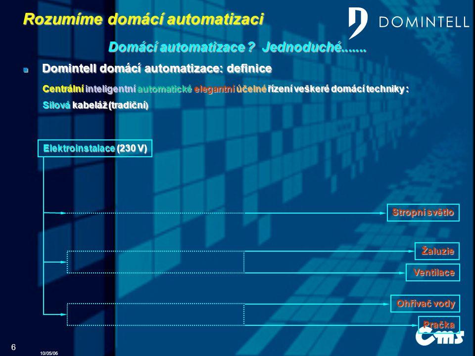 10/05/06 6 Rozumíme domácí automatizaci Domácí automatizace .