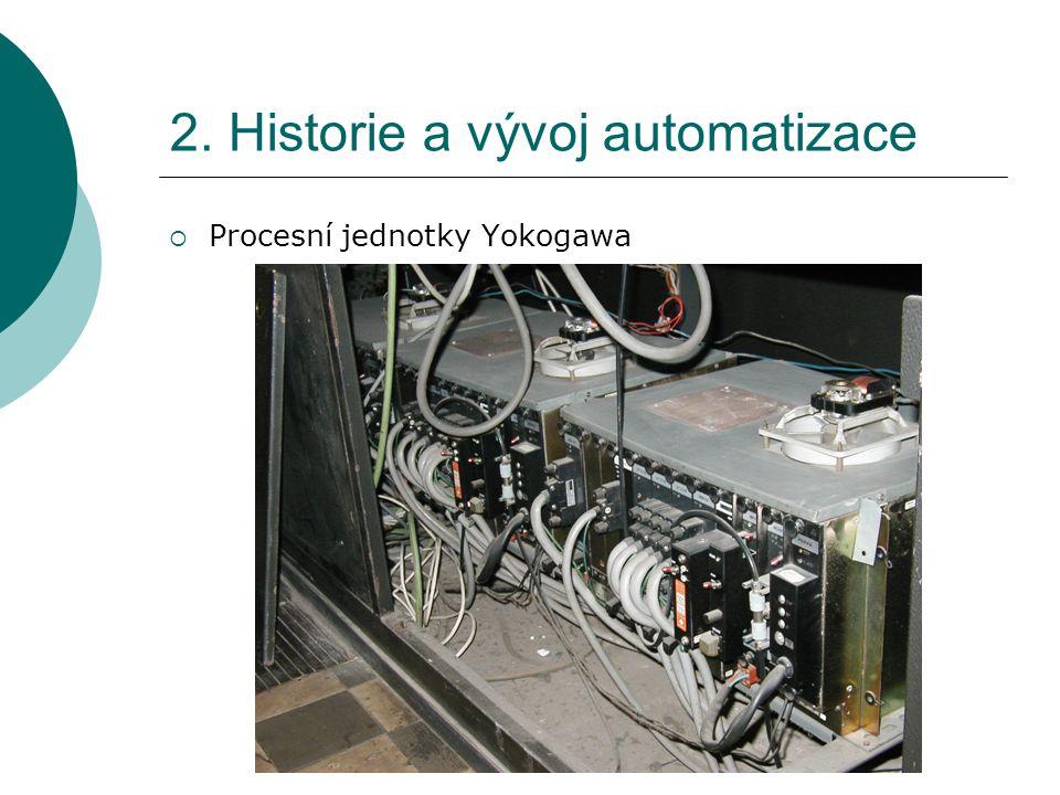 2. Historie a vývoj automatizace  Procesní jednotky Yokogawa