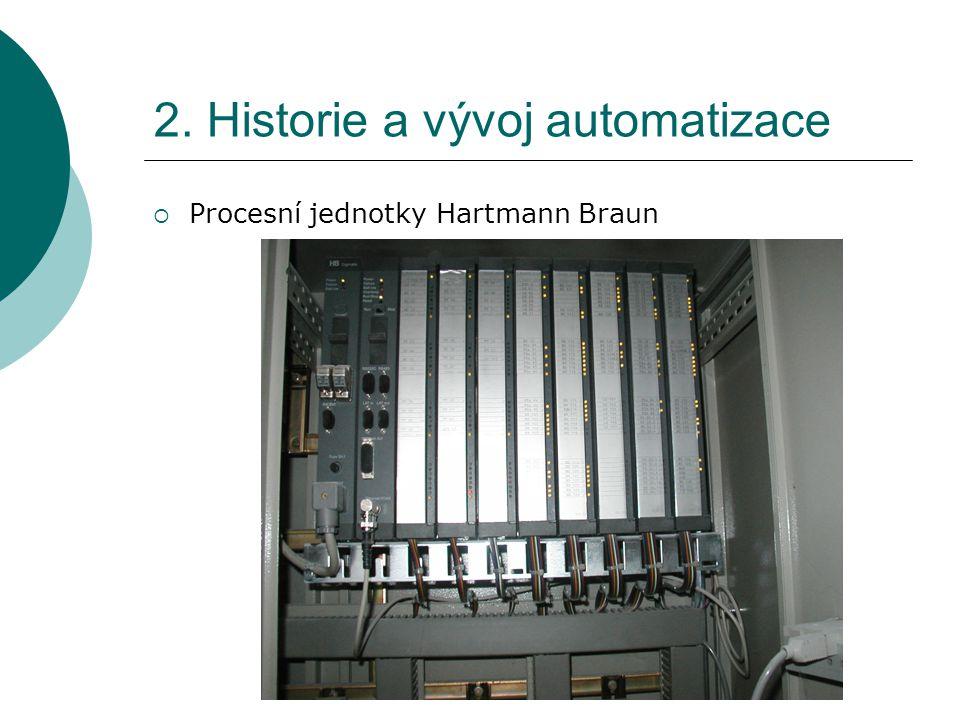 2. Historie a vývoj automatizace  Procesní jednotky Hartmann Braun