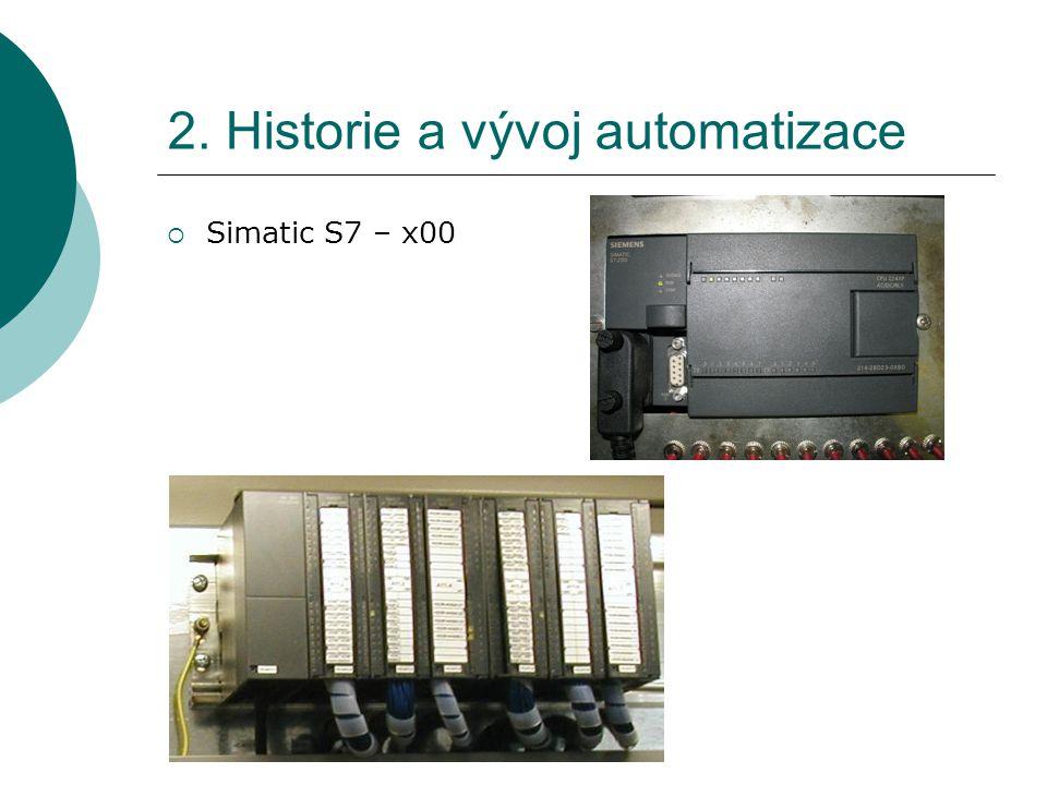 2. Historie a vývoj automatizace  Simatic S7 – x00