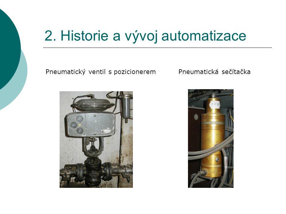2. Historie a vývoj automatizace Pneumatické regulátory – pohled zezadu