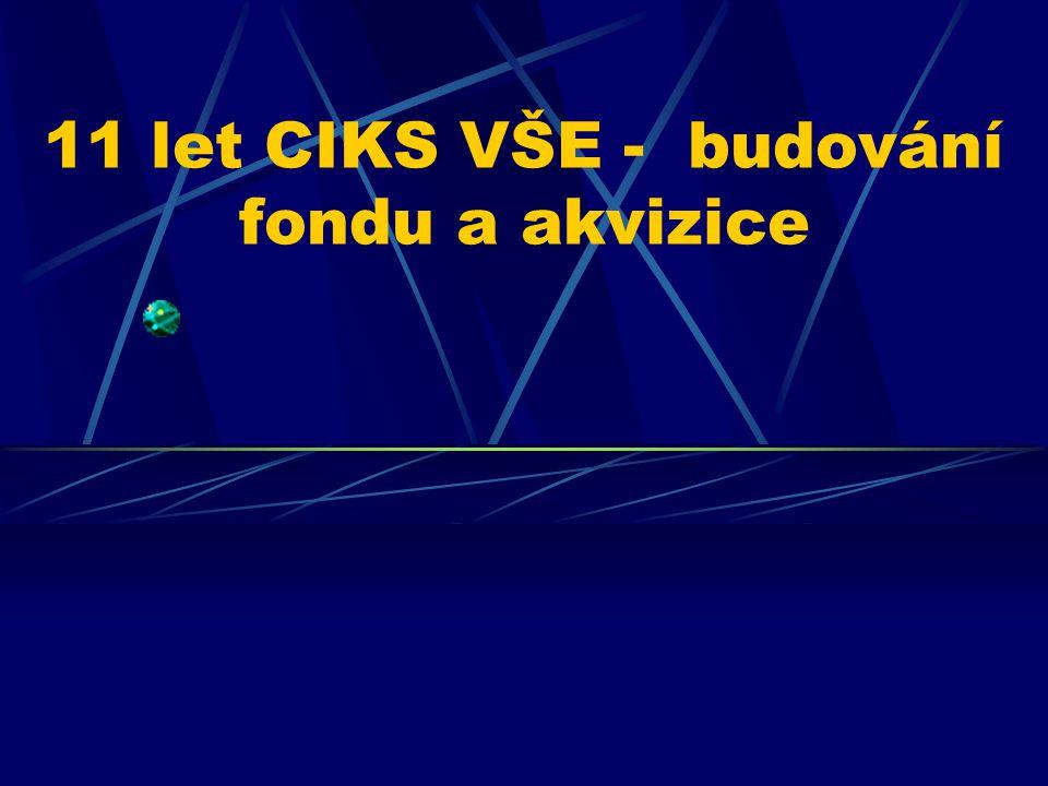 11 let CIKS VŠE - budování fondu a akvizice