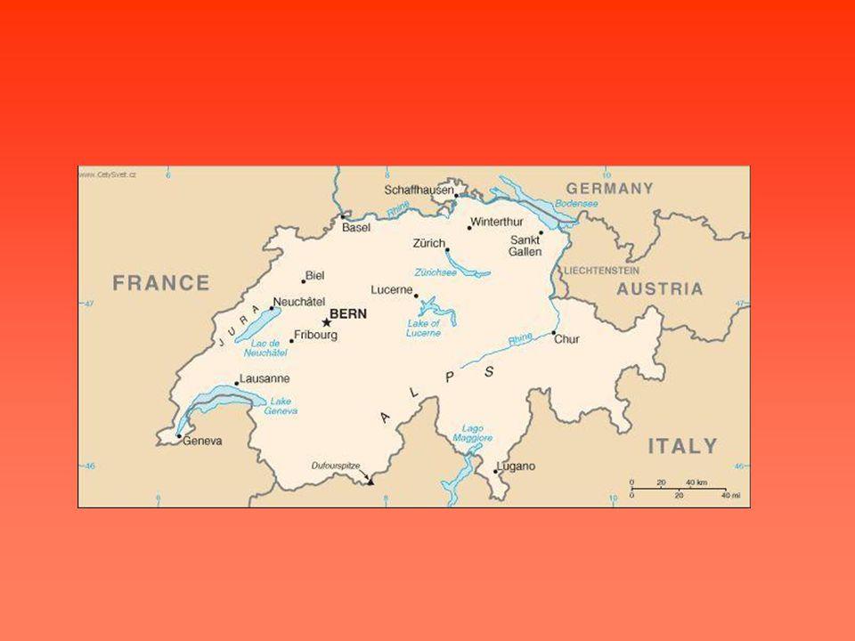 Základní údaje Oficiální název:Švýcarská konfederace Rozloha:41 290 km2 Počet obyvatel:7 523 934 Hl.