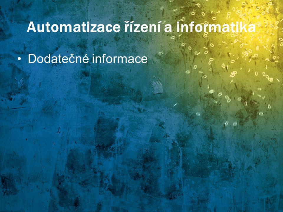 Informatické obory Automatizace řízení a informatika Popis Ekonomická informatika Popis Studijní specializace