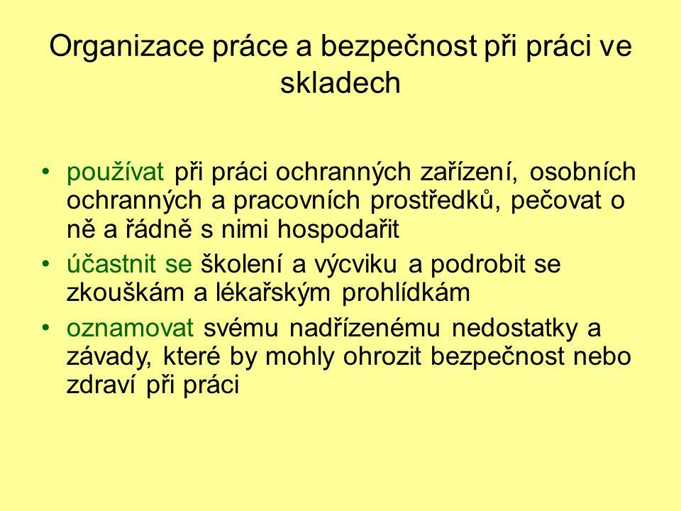 Kontrolní otázky 1.Co znamená uskladnění zboží. 2.Popište zásady skladování.