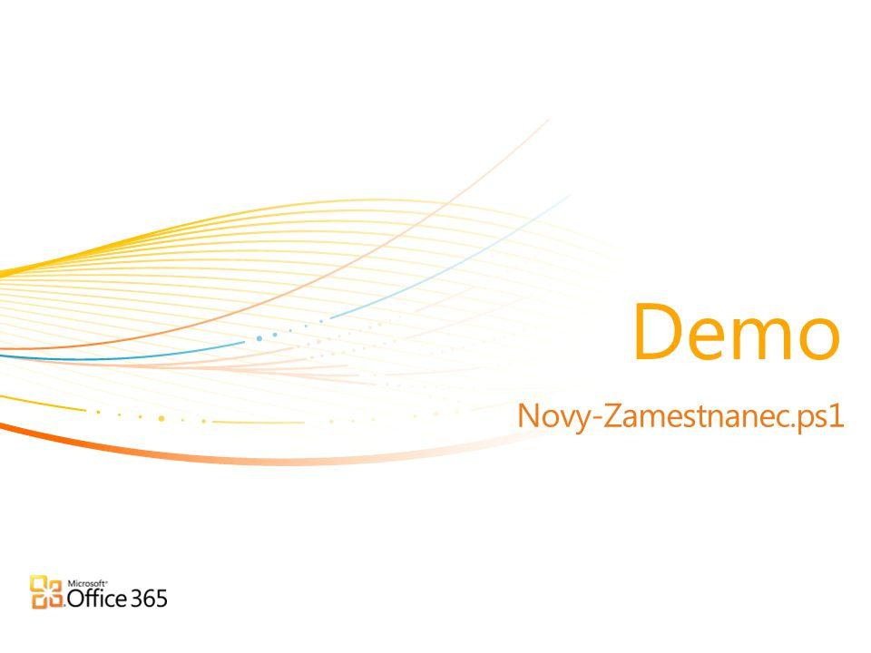 Novy-Zamestnanec.ps1 Demo