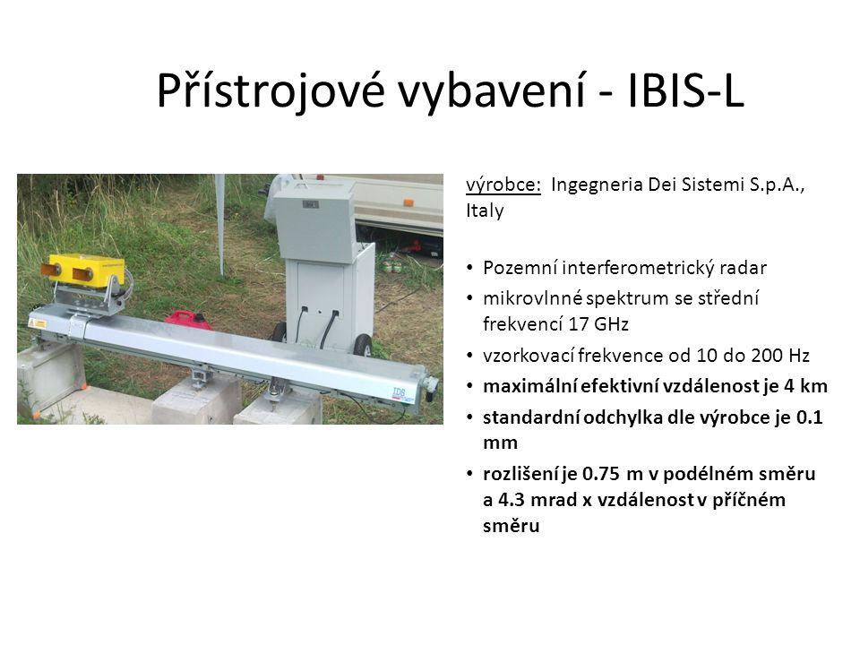 Přístrojové vybavení - IBIS-L výrobce: Ingegneria Dei Sistemi S.p.A., Italy Pozemní interferometrický radar mikrovlnné spektrum se střední frekvencí 1