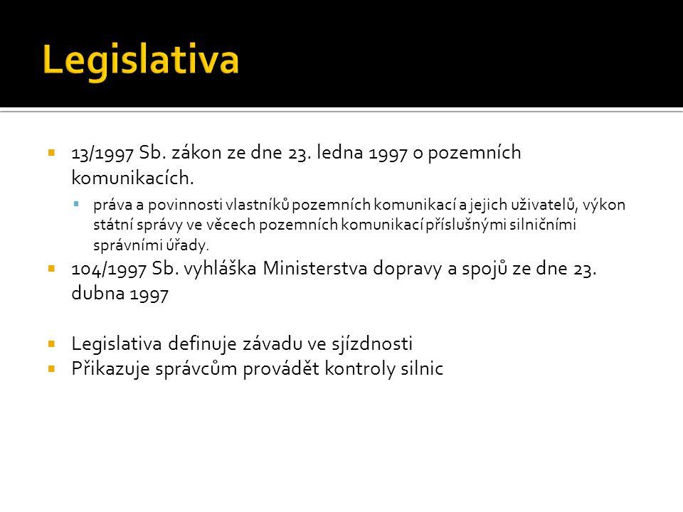  13/1997 Sb. zákon ze dne 23. ledna 1997 o pozemních komunikacích.