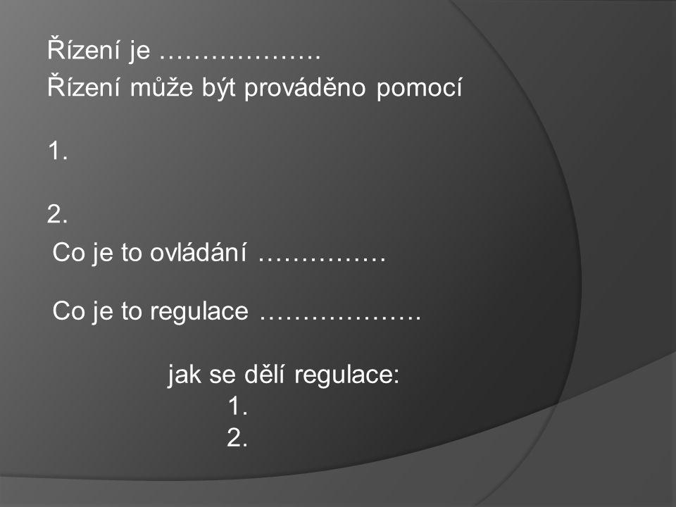 Základní regulační schéma