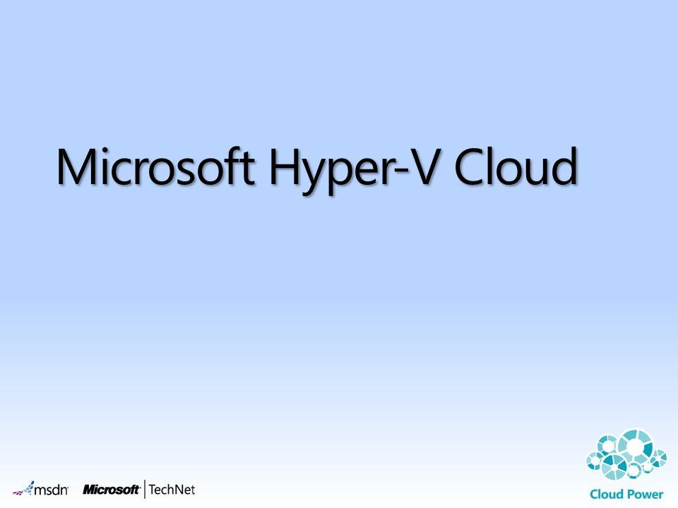 Microsoft Hyper-V Cloud