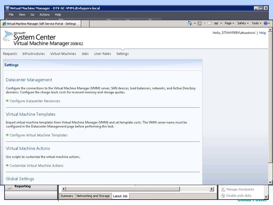 SSP 2.0 pro SCVMM 2008 R2