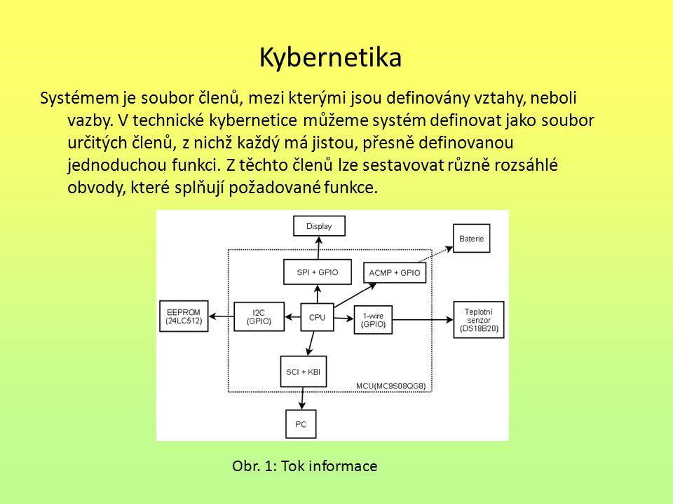 Kybernetika Systémem je soubor členů, mezi kterými jsou definovány vztahy, neboli vazby.