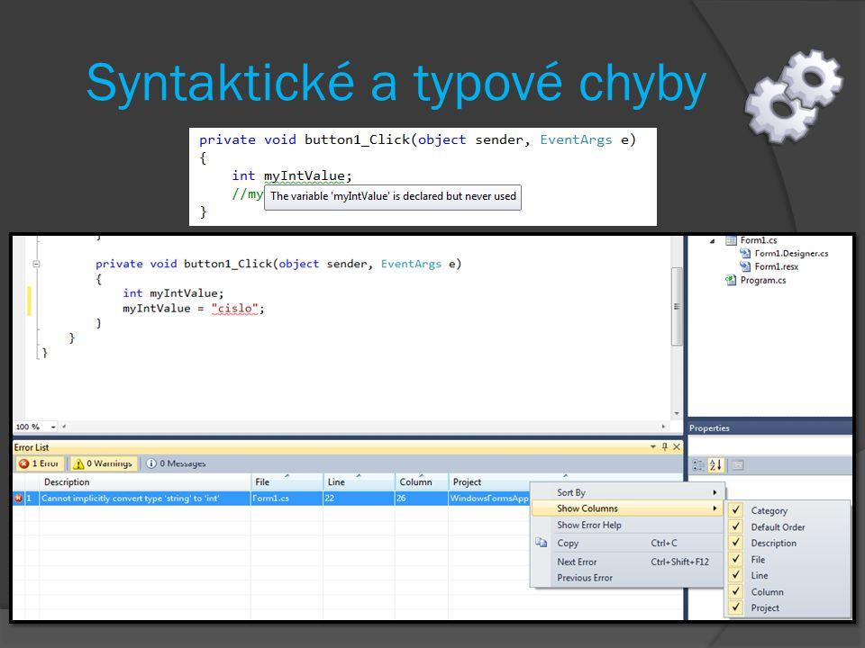 Syntaktické a typové chyby
