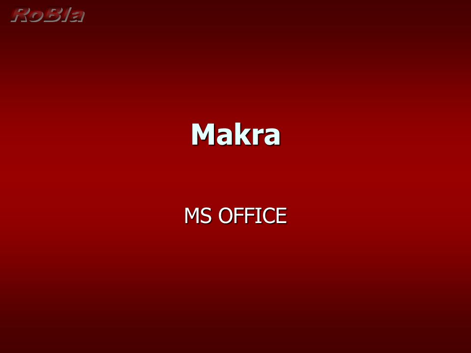 Makra MS OFFICE