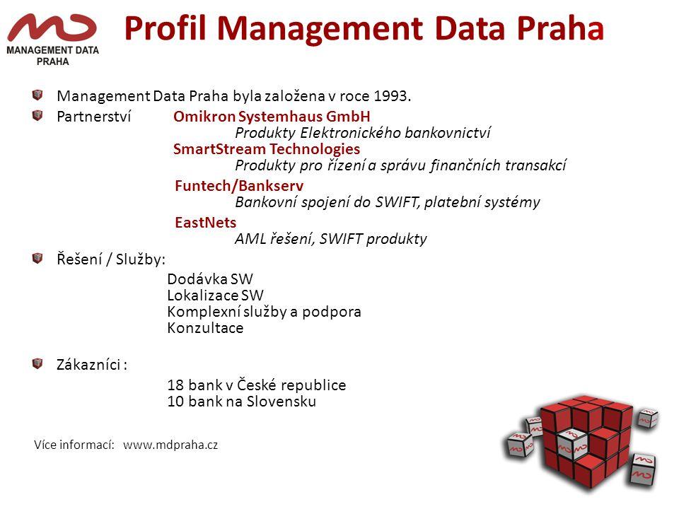 Profil Management Data Praha Management Data Praha byla založena v roce 1993.
