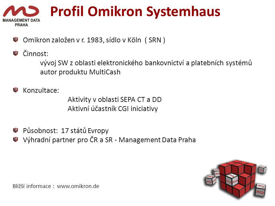 Profil Omikron Systemhaus Omikron založen v r.