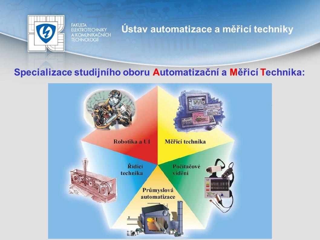 Ústav automatizace a měřicí techniky studijní obor AMT Řídicí technika Moderní algoritmy řízení, teorie řízení Modelování a identifikace parametrů řízených systémů Pokročilé metody řízení v elektrických pohonech a průmyslových aplikacích Implementace řídicích algoritmů v embedded systémech a programovatelných automatech Systémy diskrétních událostí