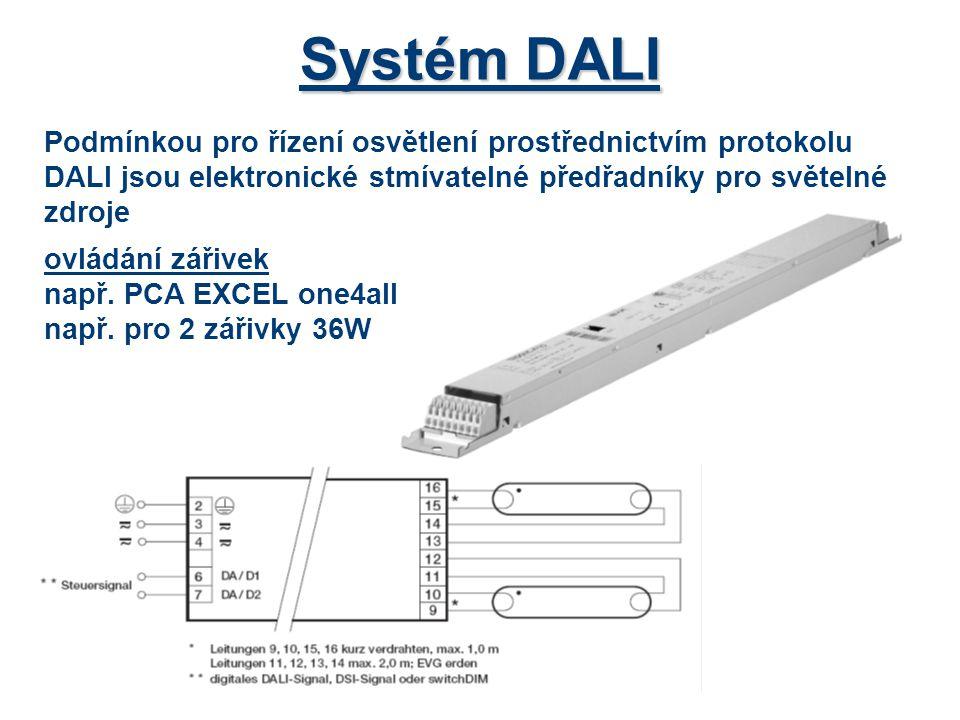 Systém DALI Ovládání halogenových žárovek na malé napětí např.