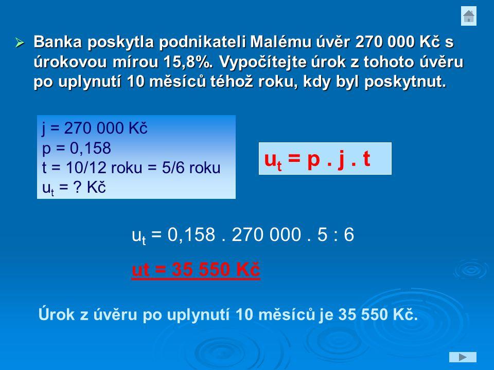  Poštovní spořitelna poskytla podnikateli Holému úvěr 780 000 Kč s úrokovou mírou 16,5%.