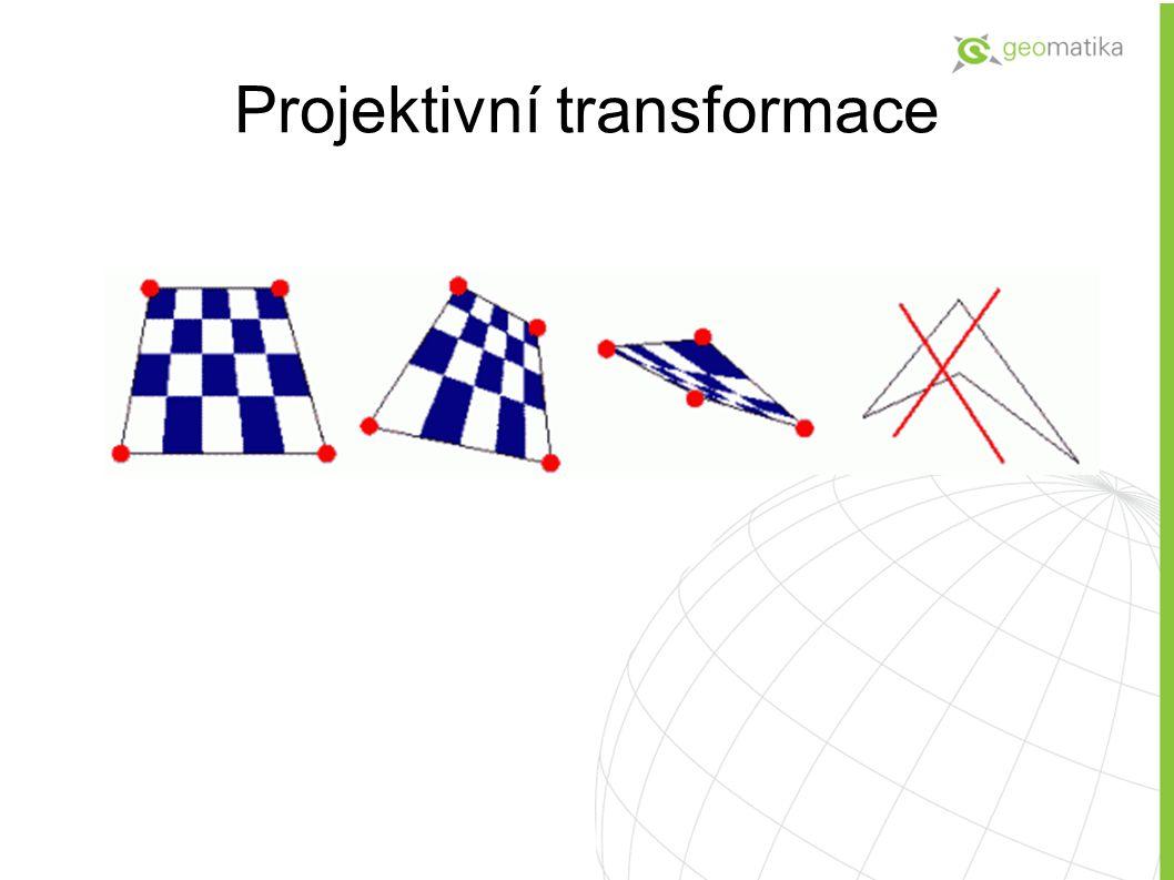 Transformace pomocí gridu Nereziduální transformace = cílový bod a transformovaný výchozí bod jsou shodné nezávisle na jejich počtu.