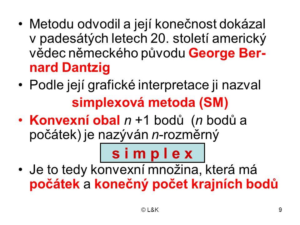 © L&K9 Metodu odvodil a její konečnost dokázal v padesátých letech 20.