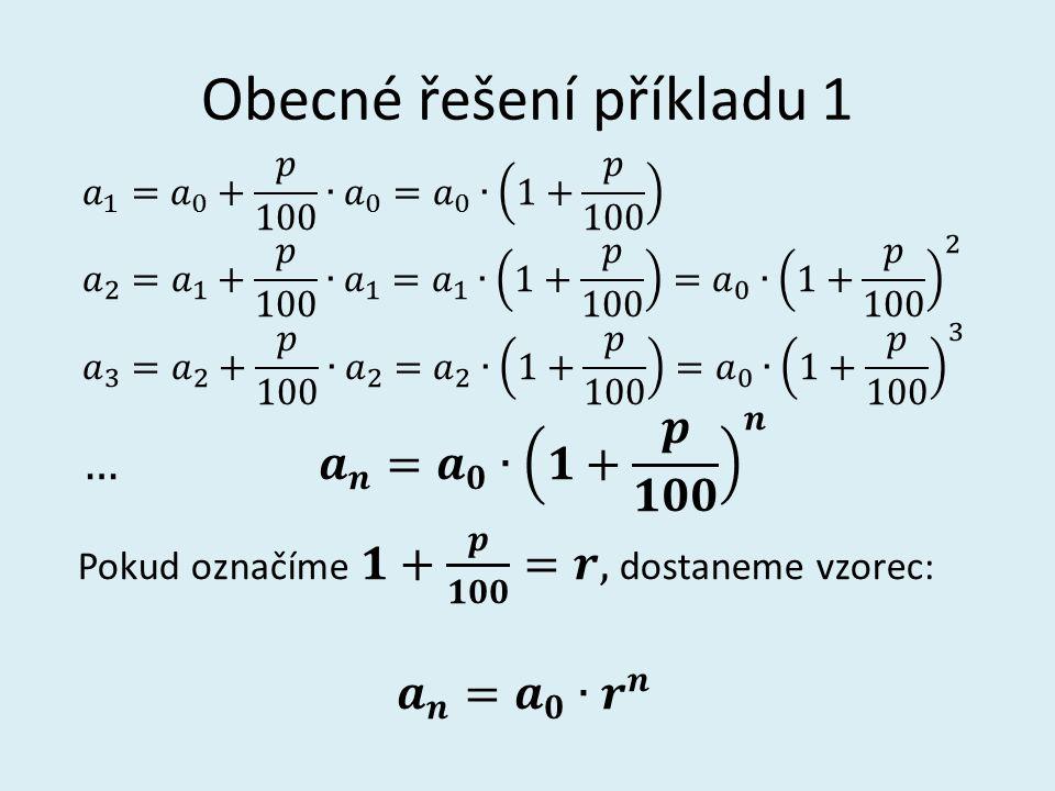 Konkrétní řešení příkladu 1