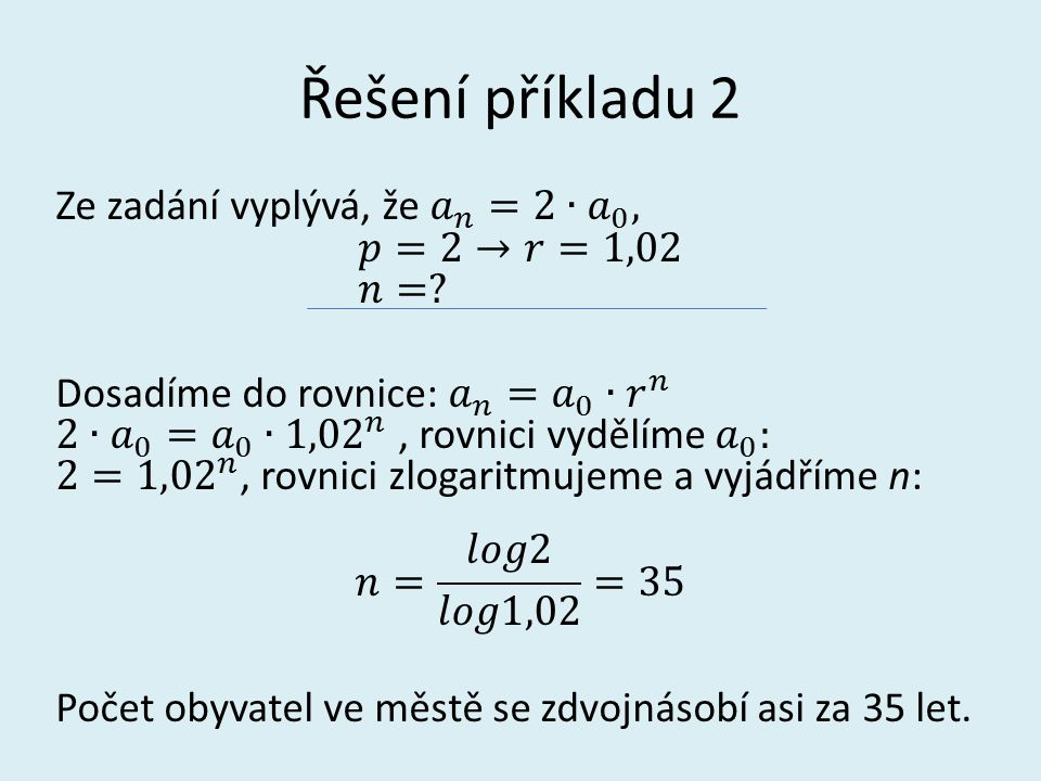 Řešení příkladu 2