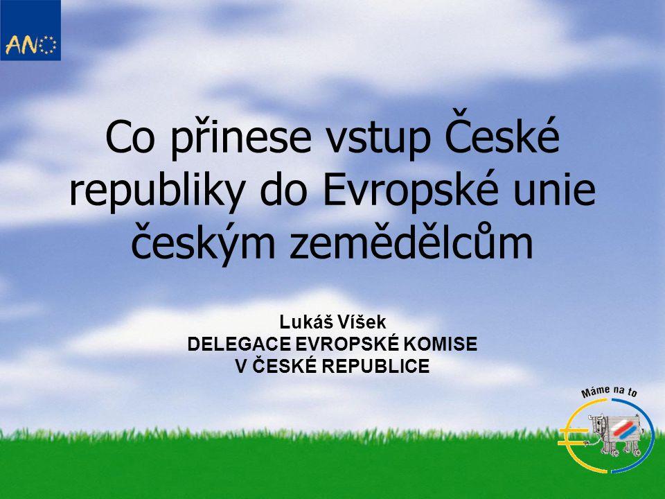 Co přinese vstup České republiky do Evropské unie českým zemědělcům Lukáš Víšek DELEGACE EVROPSKÉ KOMISE V ČESKÉ REPUBLICE