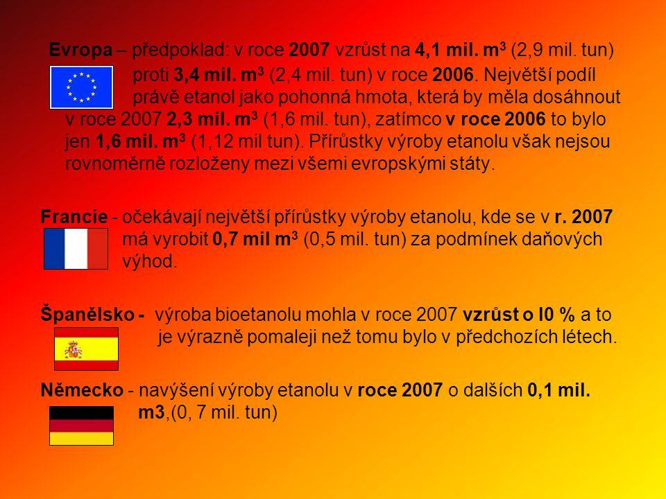 Evropa – předpoklad: v roce 2007 vzrůst na 4,1 mil.