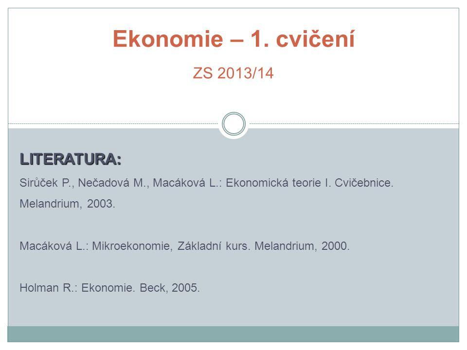Ekonomie – 1.