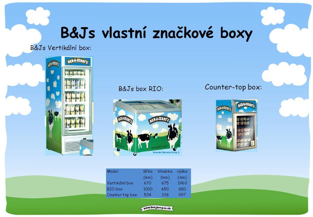 B&Js vlastní značkové boxy B&Js Vertikální box: B&Js box RIO: Counter-top box:
