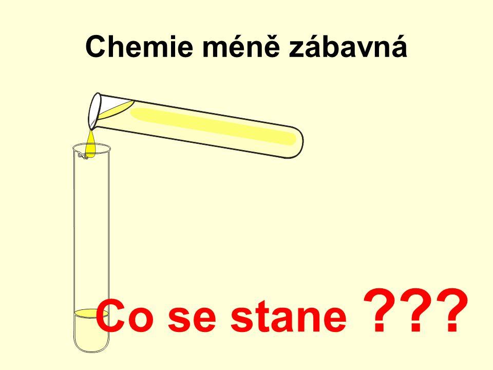 Chemie méně zábavná Co se stane ???