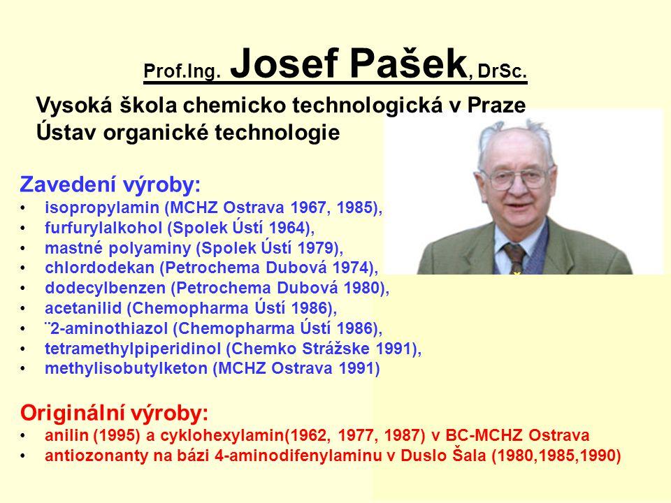 Česká hlava 2004 Vysoká škola chemicko technologická v Praze Ústav organické technologie Prof.Ing.