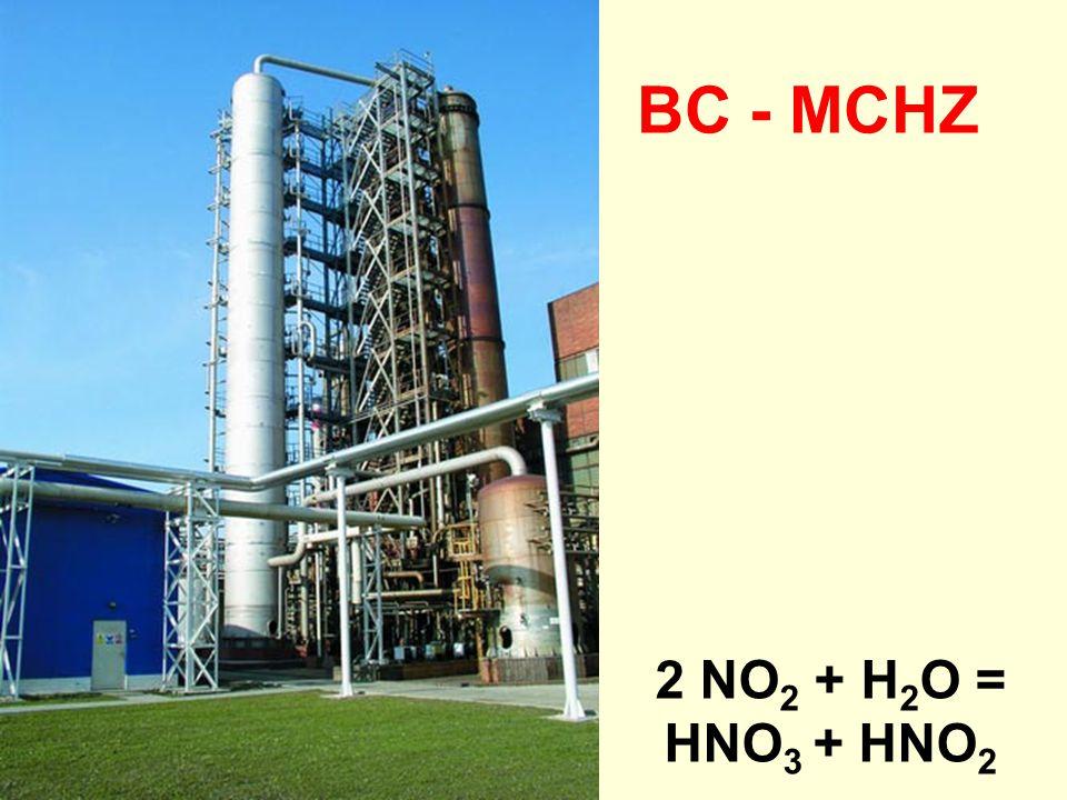 2 NO 2 + H 2 O = HNO 3 + HNO 2 BC - MCHZ