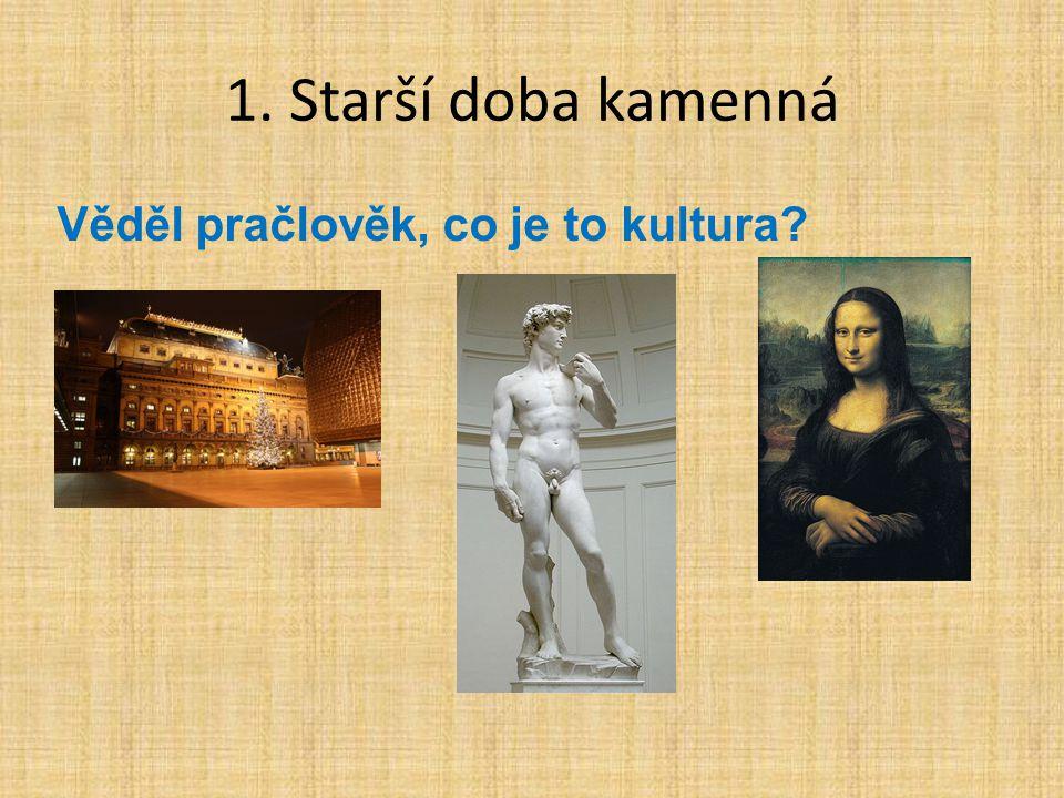 1. Starší doba kamenná Věděl pračlověk, co je to kultura?