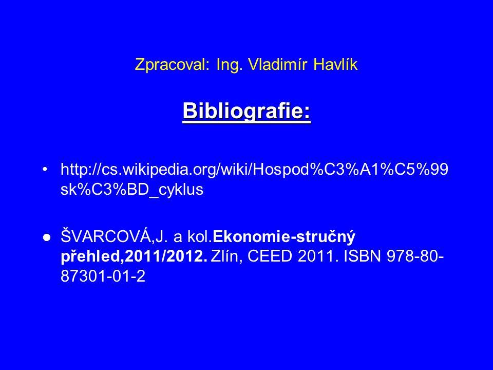 Zpracoval: Ing. Vladimír Havlík Bibliografie: http://cs.wikipedia.org/wiki/Hospod%C3%A1%C5%99 sk%C3%BD_cyklus ŠVARCOVÁ,J. a kol.Ekonomie-stručný přehl